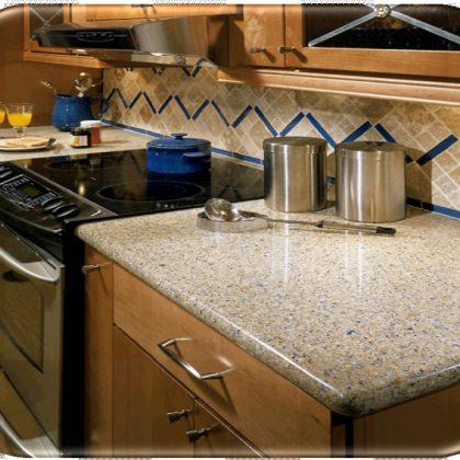 kitchen marbel installation